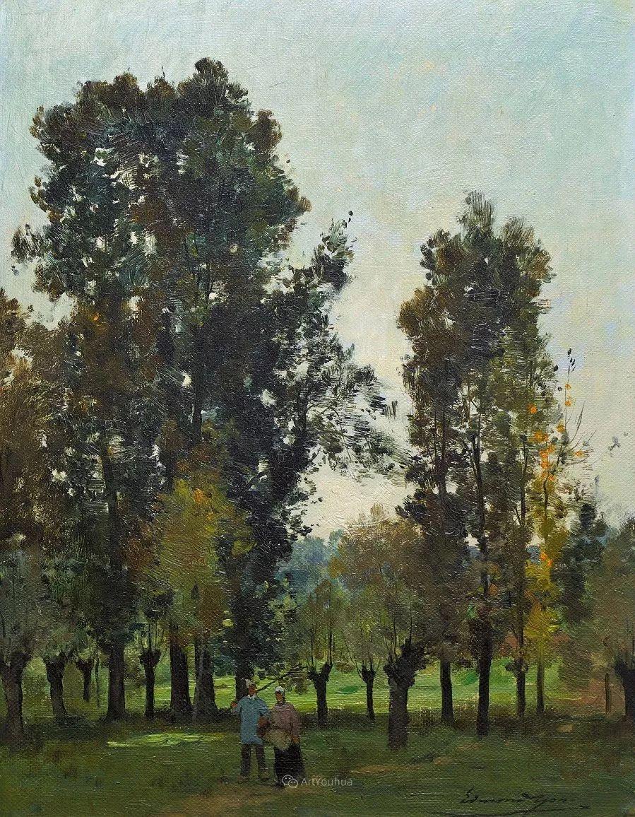 河边的风景,法国画家Edmond Charles Joseph Yon插图12