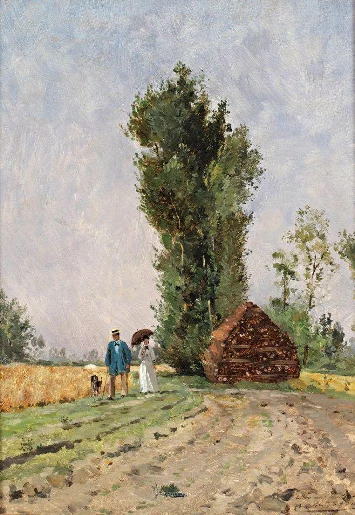 河边的风景,法国画家Edmond Charles Joseph Yon插图15