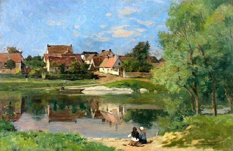 河边的风景,法国画家Edmond Charles Joseph Yon插图16