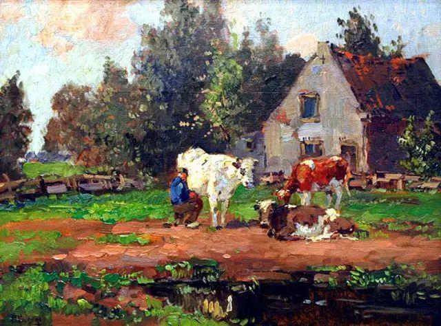 风景油画,荷兰画家Ben Viegers插图1