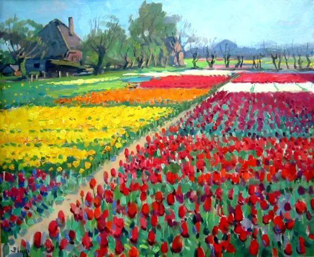 风景油画,荷兰画家Ben Viegers插图5