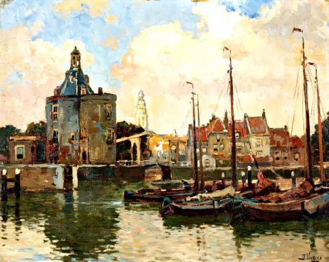 风景油画,荷兰画家Ben Viegers插图9