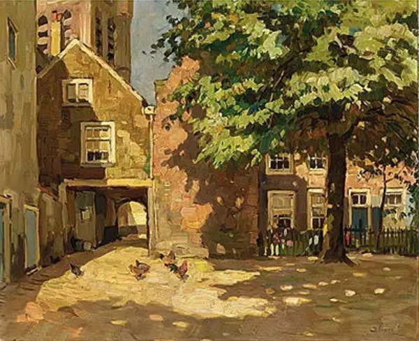 风景油画,荷兰画家Ben Viegers插图15