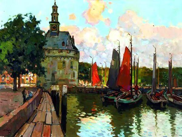 风景油画,荷兰画家Ben Viegers插图21