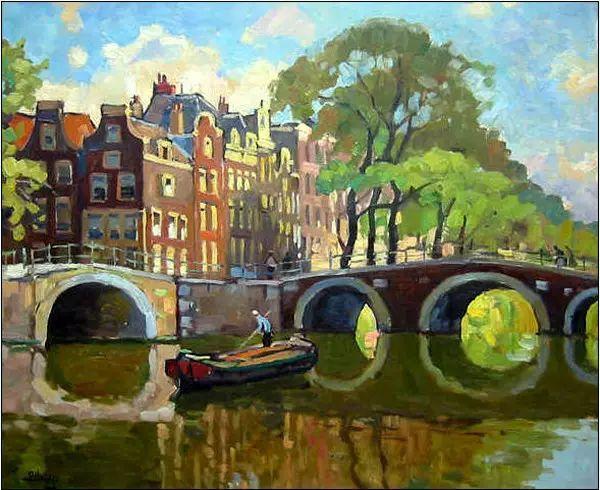 风景油画,荷兰画家Ben Viegers插图27