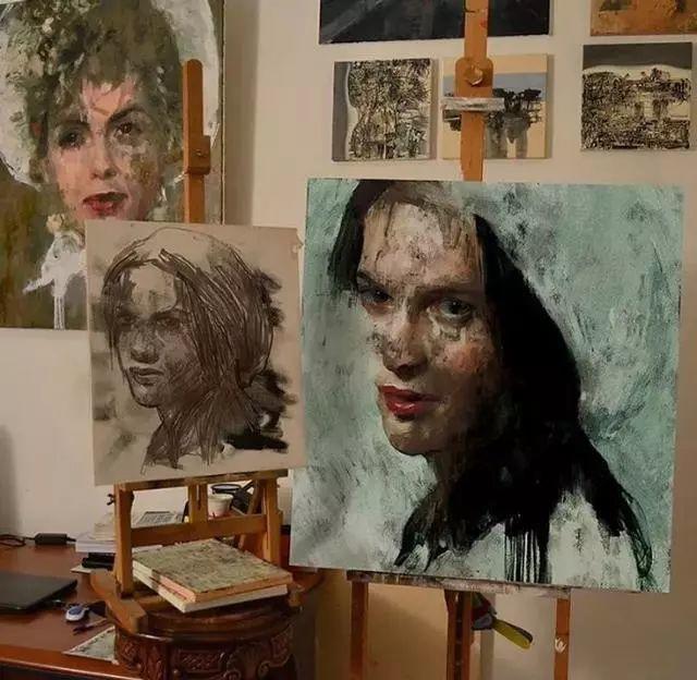 人物肖像,意大利画家Michele Petrelli插图