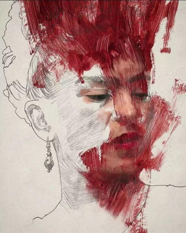 人物肖像,意大利画家Michele Petrelli插图1