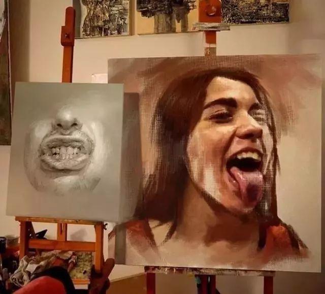 人物肖像,意大利画家Michele Petrelli插图3