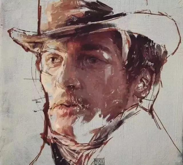 人物肖像,意大利画家Michele Petrelli插图7