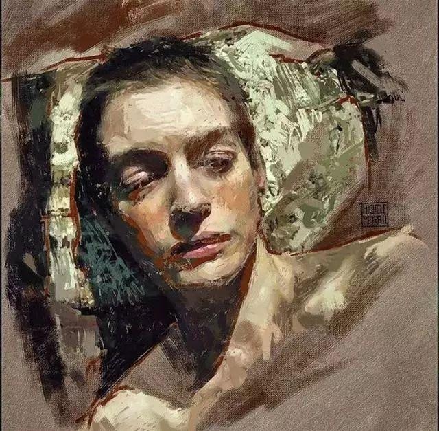 人物肖像,意大利画家Michele Petrelli插图8