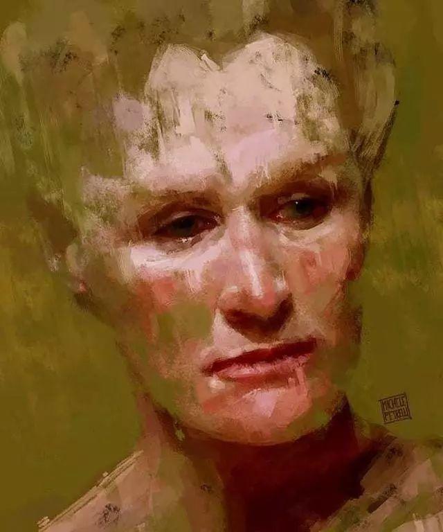 人物肖像,意大利画家Michele Petrelli插图9