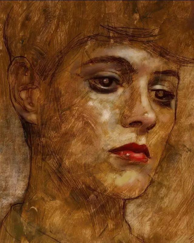 人物肖像,意大利画家Michele Petrelli插图12