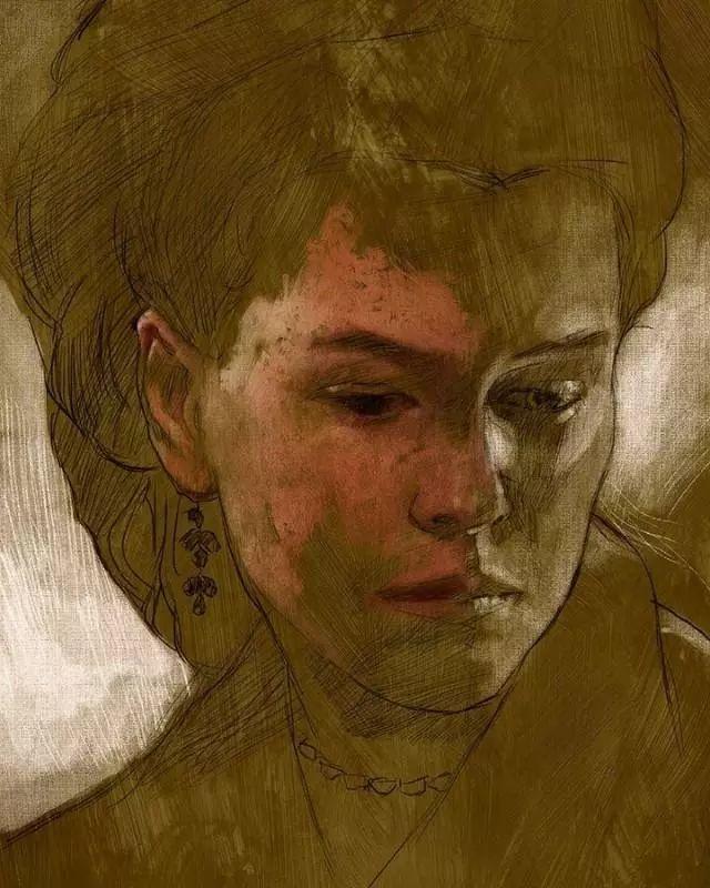 人物肖像,意大利画家Michele Petrelli插图13