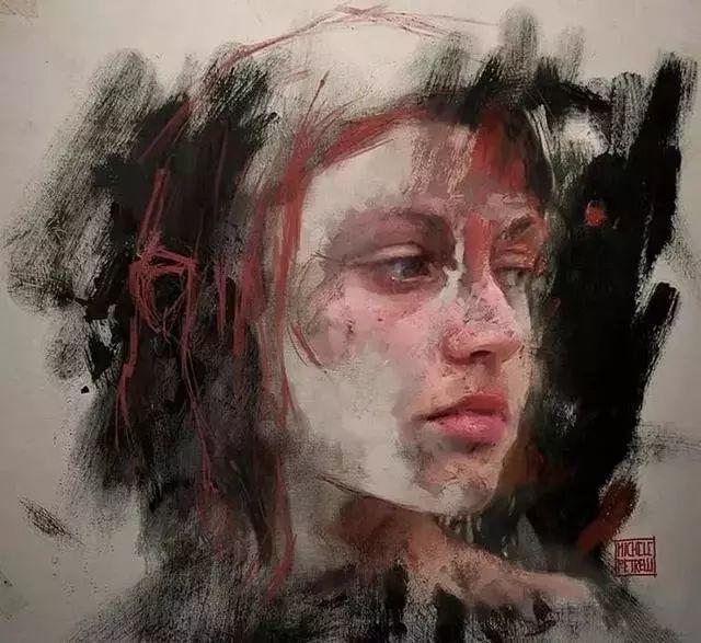 人物肖像,意大利画家Michele Petrelli插图14