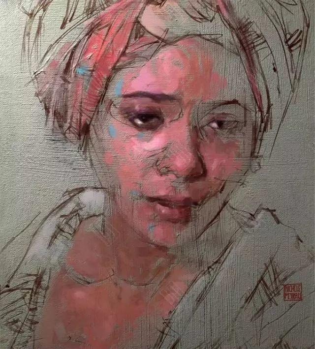 人物肖像,意大利画家Michele Petrelli插图17