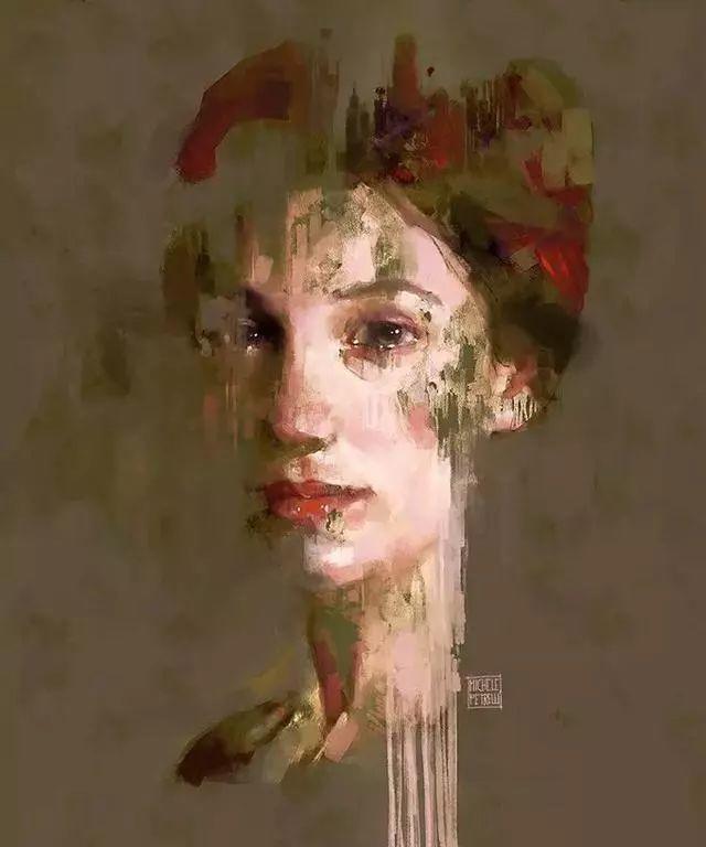 人物肖像,意大利画家Michele Petrelli插图18
