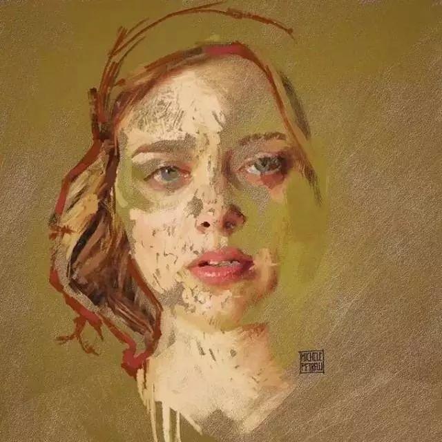 人物肖像,意大利画家Michele Petrelli插图19