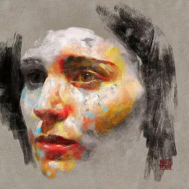 人物肖像,意大利画家Michele Petrelli插图20
