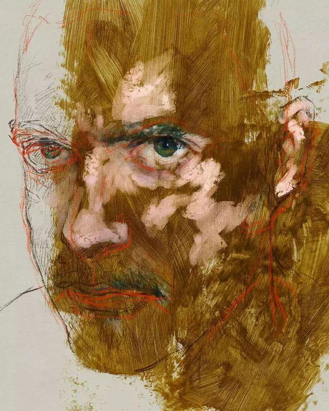 人物肖像,意大利画家Michele Petrelli插图21