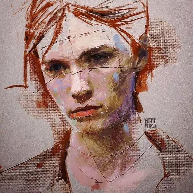 人物肖像,意大利画家Michele Petrelli插图22