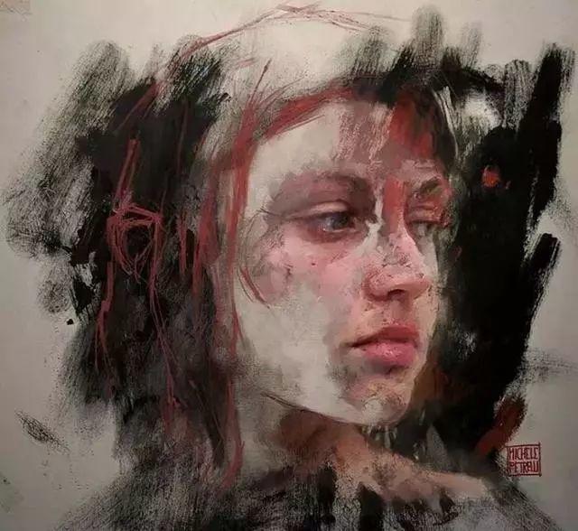 人物肖像,意大利画家Michele Petrelli插图28