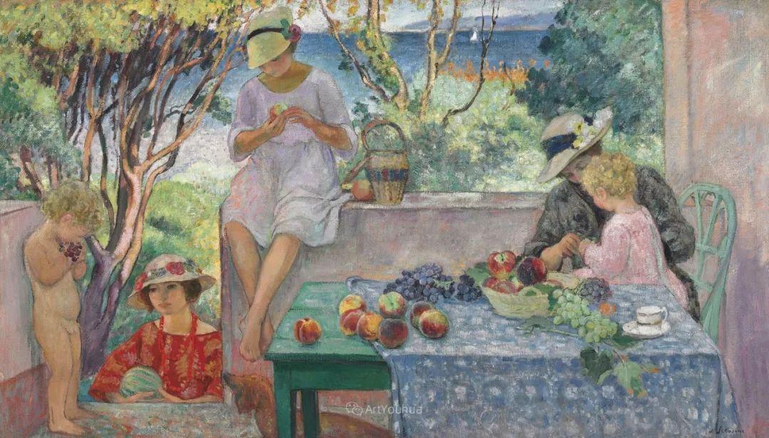 人物篇,法国后印象派画家亨利·莱巴斯克插图19