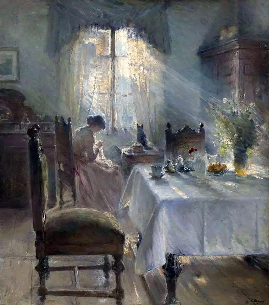 她的油画都为你开了一扇窗,丹麦德裔女画家Bertha Wegmann插图