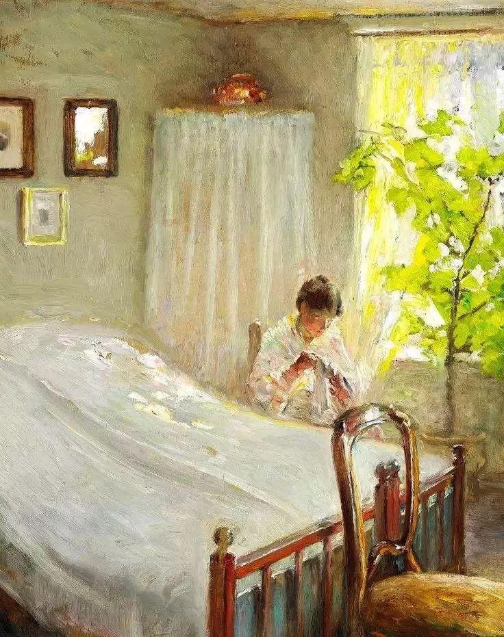 她的油画都为你开了一扇窗,丹麦德裔女画家Bertha Wegmann插图1