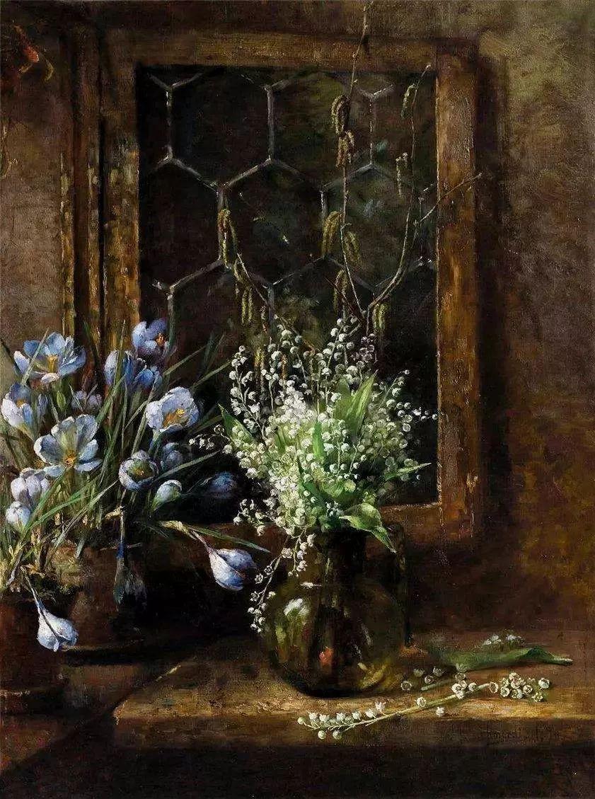 她的油画都为你开了一扇窗,丹麦德裔女画家Bertha Wegmann插图32