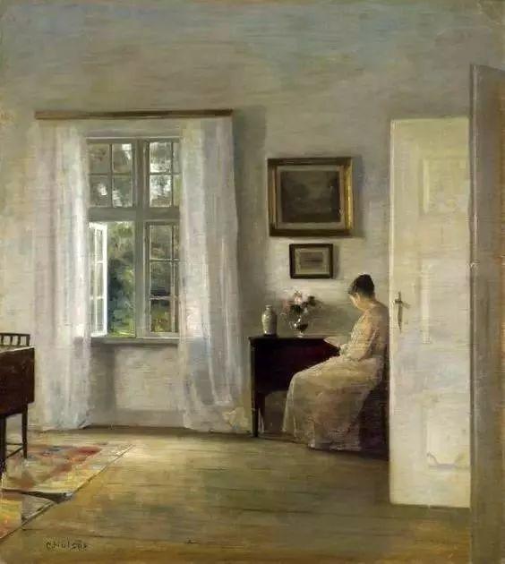 她的油画都为你开了一扇窗,丹麦德裔女画家Bertha Wegmann插图35