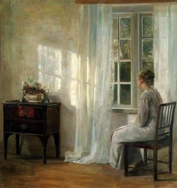 她的油画都为你开了一扇窗,丹麦德裔女画家Bertha Wegmann插图36