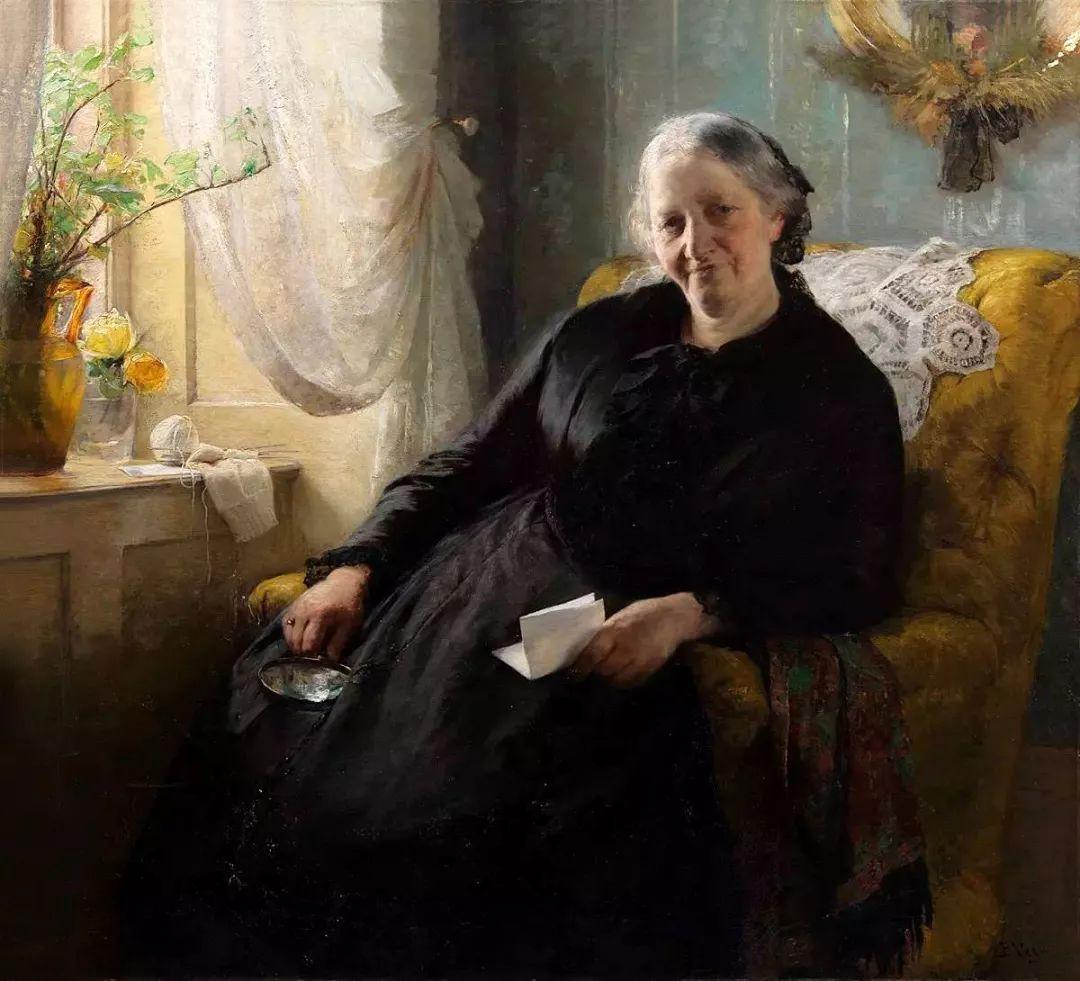 她的油画都为你开了一扇窗,丹麦德裔女画家Bertha Wegmann插图40