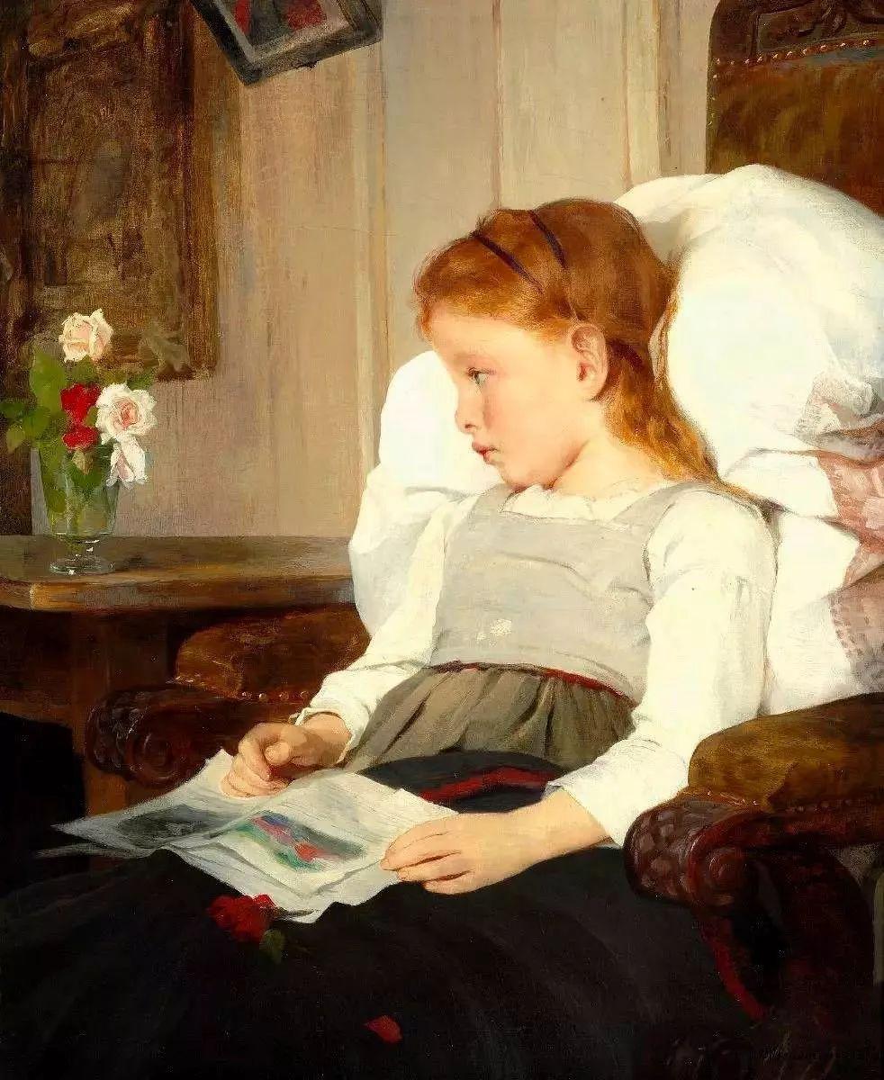 她的油画都为你开了一扇窗,丹麦德裔女画家Bertha Wegmann插图41