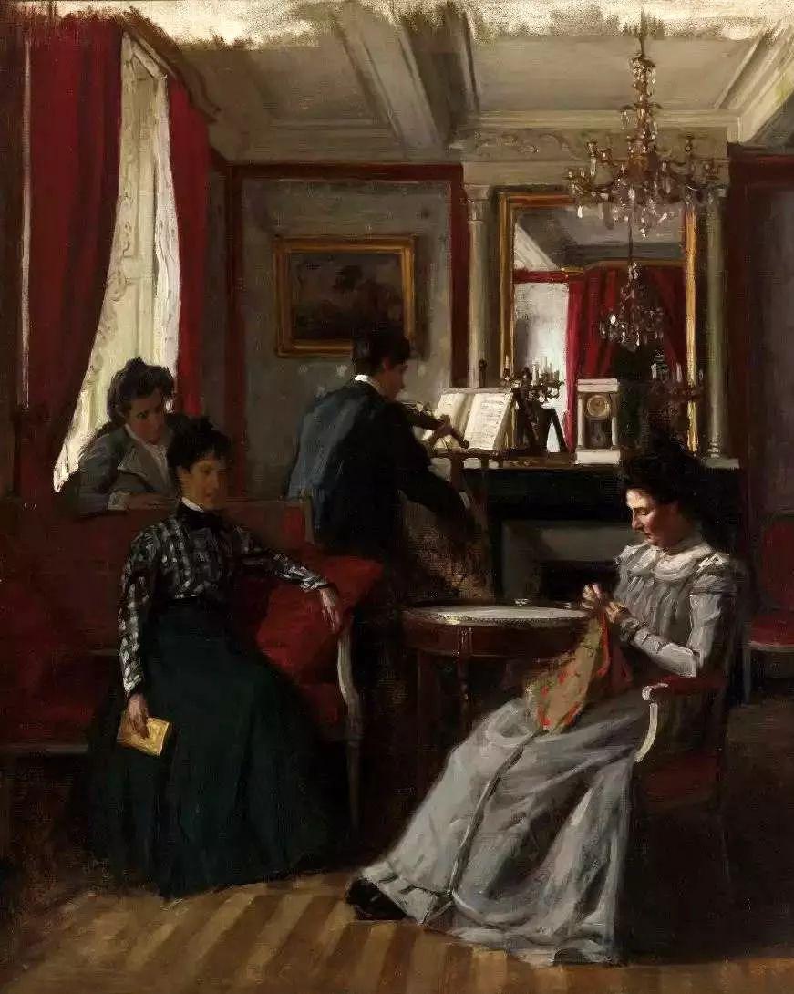 她的油画都为你开了一扇窗,丹麦德裔女画家Bertha Wegmann插图42