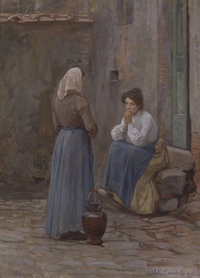 芬兰第一代女性画家Elin Danielson Gambogi插图14