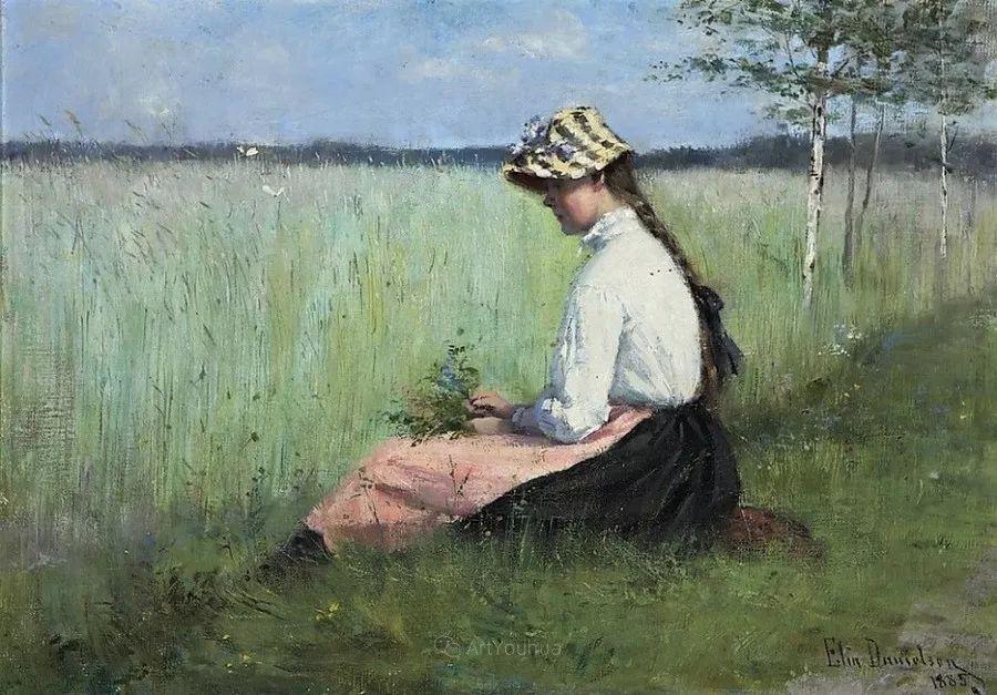 芬兰第一代女性画家Elin Danielson Gambogi插图23
