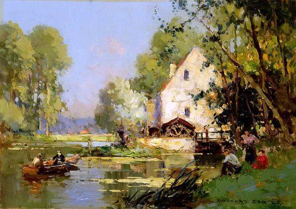后印象派风景 法国画家Edouard Léon Cortès作品二插图9