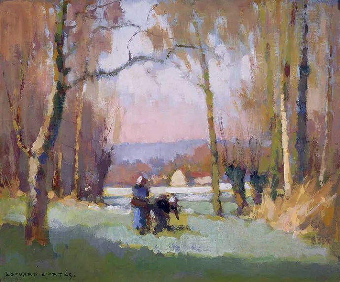 后印象派风景 法国画家Edouard Léon Cortès作品二插图11