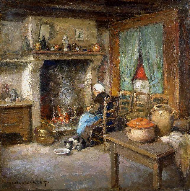 后印象派风景 法国画家Edouard Léon Cortès作品二插图13