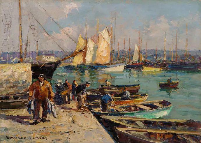 后印象派风景 法国画家Edouard Léon Cortès作品二插图17