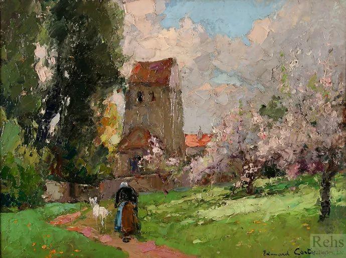后印象派风景 法国画家Edouard Léon Cortès作品二插图19