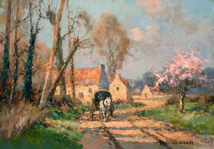 后印象派风景 法国画家Edouard Léon Cortès作品二插图21