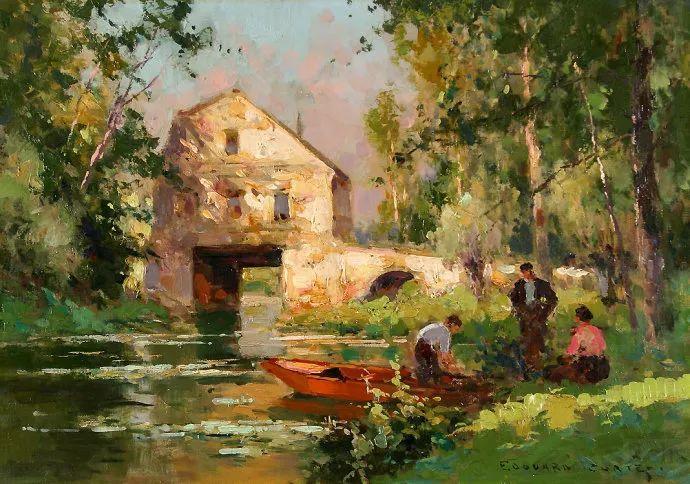后印象派风景 法国画家Edouard Léon Cortès作品二插图23