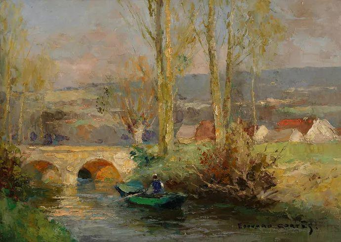 后印象派风景 法国画家Edouard Léon Cortès作品二插图25