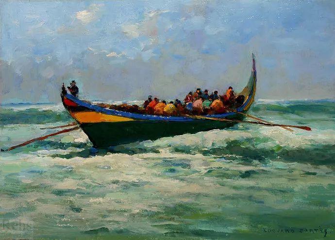后印象派风景 法国画家Edouard Léon Cortès作品二插图27