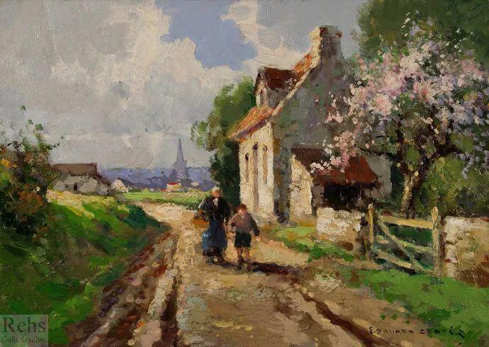后印象派风景 法国画家Edouard Léon Cortès作品二插图29