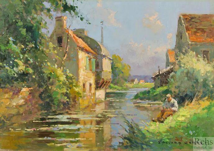 后印象派风景 法国画家Edouard Léon Cortès作品二插图33
