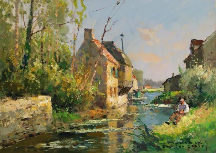 后印象派风景 法国画家Edouard Léon Cortès作品二插图37