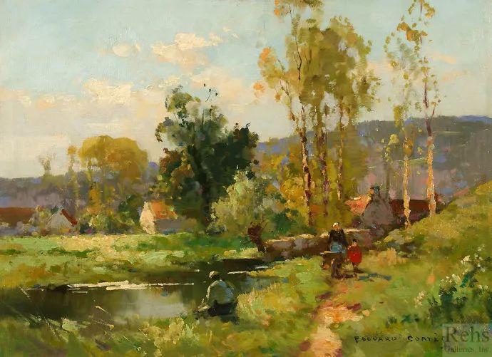 后印象派风景 法国画家Edouard Léon Cortès作品二插图41