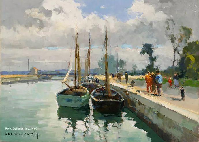 后印象派风景 法国画家Edouard Léon Cortès作品二插图43